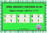 Clip cards addition 10-20 open sentence