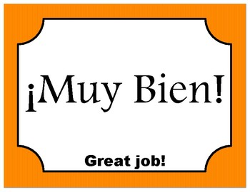Clip chart - Bilingual Spanish/English