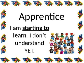 Clip chart Learning Check in Lego Themed