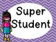 Super hero clip chart