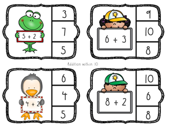 Clip it! A Kindergarten addition and subtraction center