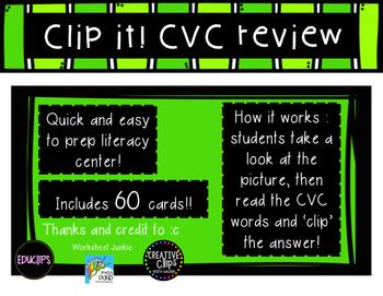 Clip it! CVC practice