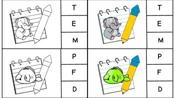 Clip it: Letter and Beginning Sound Identification with Counting Practice