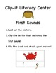 Clip-it Literacy Center: First Sounds