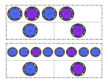 Clip-it Math Center: Button Patterns