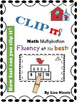 Multiplication Fluency Flash Cards