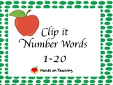 Clip it - Number Words 1-20