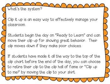 Clip it Up: Behavior Management Chart