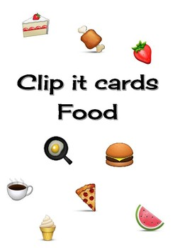 Clip it cards - Food