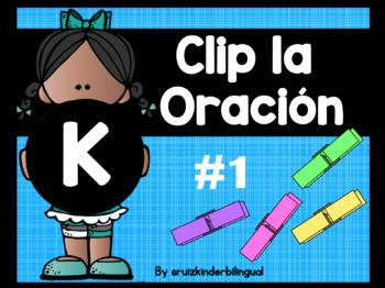 Clip la Oración #1 Beginning Kindergarten