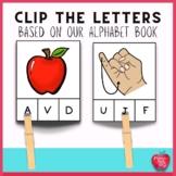 Clip the Alphabet Task Cards-based on our Alphabet Book