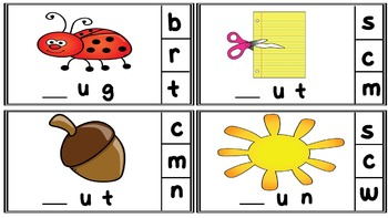 Clip the Beginning Sound CVC words