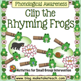 Rhyme - Clip the Frog Rhyming Game
