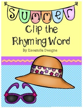 Clip the Rhyming Word: Beach Edition