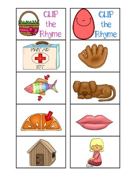 Clip the Rhyming Word: Easter Edition