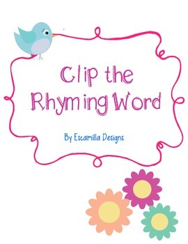 Clip the Rhyming Word with Spring Flowers