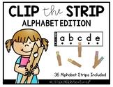 Clip the Strip Alphabet Cards