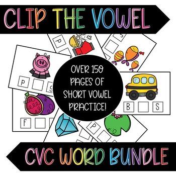 Clip the Vowel CVC Cards