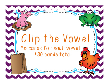 Clip the Vowel Cvc words
