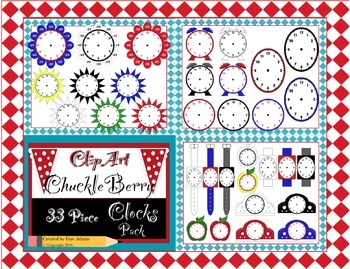 ClipArt ChuckleBerry's 33 Piece Clock Pack