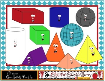 ClipArt ChuckleBerry's Free 20 Piece Geo Solids Bundle