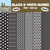 ClipArt: FREE Black & White Fun decorative backgrounds - 6