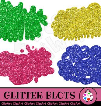 ClipArt Glitter Banner Shapes & Splashes