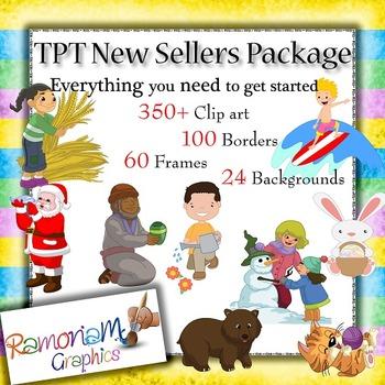 TPT Seller Clip art Starters Pack Bundle