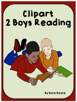 Clipart - 2 Boys Reading - 8 files