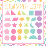 2d Flat Shapes Clip Art Pack for Commercial Use