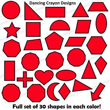 2D Shapes Clip Art | Geometric Shapes