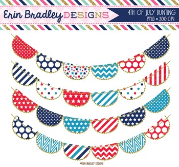 Clipart - 4th of July Bunting