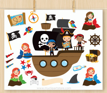Clipart - Pirate Boys