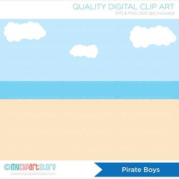 Clipart - Pirate Boys