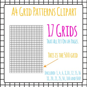 A4 Grids - Page Dividers Clip Art Pack for Commercial Use