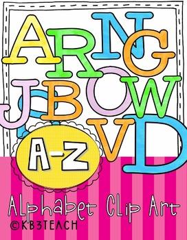 Alphabet Letters Clipart: Alphabet Blocks Set (Uppercase/Lowercase A-Z)