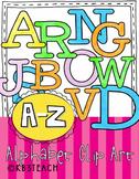 Alphabet Letters Clipart: Alphabet Blocks Set (Uppercase &
