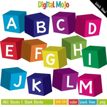 Clipart - ABC Blocks and Blank Blocks