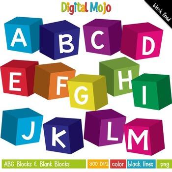 Clipart - ABC Blocks and Blank Blocks