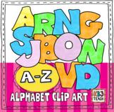 Alphabet Letters Clipart: Bubble Pastels (Uppercase A-Z)