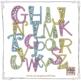 Alphabet Letters Clipart: Fancy Gingham Bubbles (Uppercase