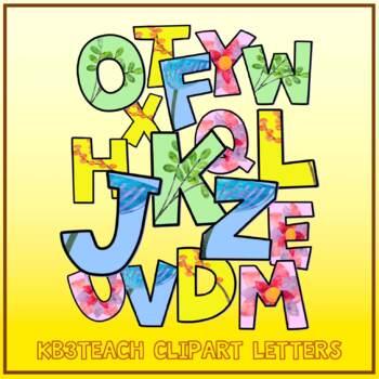 Alphabet Letters Clipart: Spring Watercolor Letters (2 Sets: A-Z)