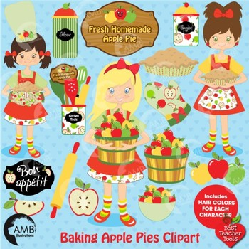 APPLE CLIPART THEME MEGA PACK Clip art, Digital Papers, Posters, AMB-104