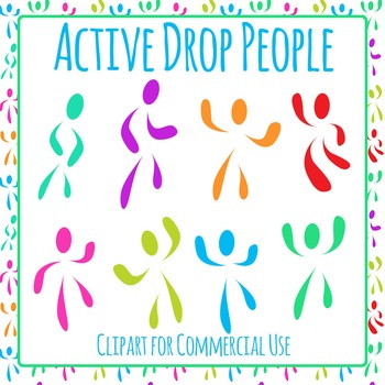 Active People Moving Clip Art Pack for Commercial Use