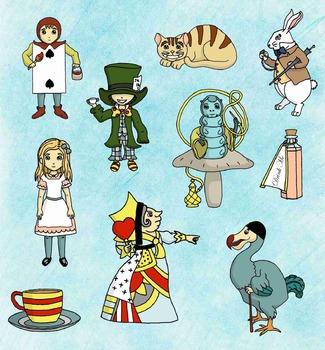 Clipart - Alice's Adventures in Wonderland