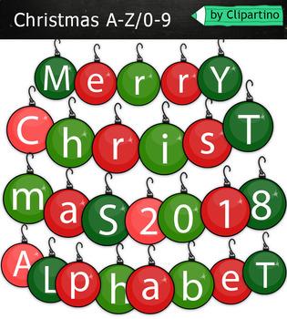 Clipart Alphabet Christmas