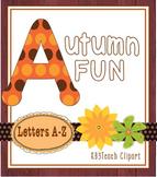 Alphabet Letters Clipart: Autumn Dots Fun (Uppercase A-Z)