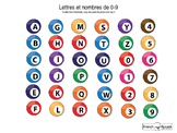Clipart: Alphabet and numbers 0-9