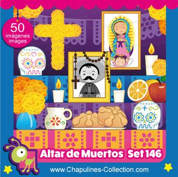 Clipart Altar de Muertos, Altar for the Dead Set 146