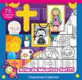 Clipart Altar for the Dead, Altar de Muertos, color & blac